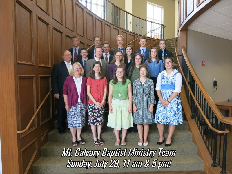 Mt Calvary Ministry Team