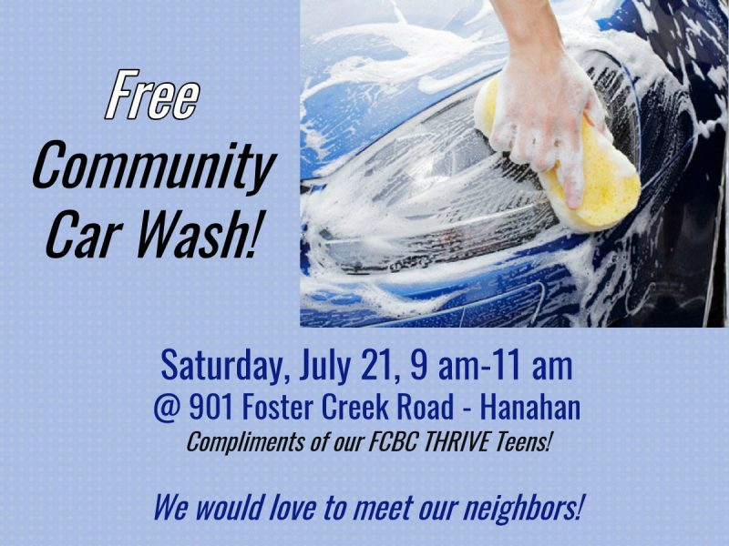 Free Community Car Wash